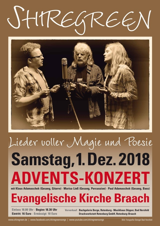 Adventskonzert Shiregreen Braach