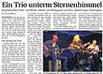 Ein Trio unterm Sternenhimmel
